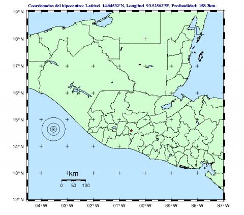 Falla de la placa de Cocos y del Caribe provoca sismos este jueves