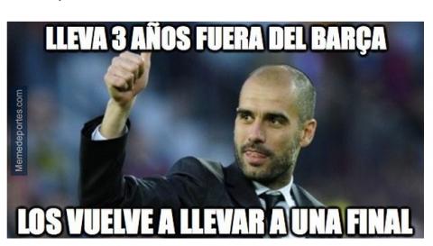 """Los """"memes"""" y el Barcelona ponen en """"jaque"""" a Pep Guardiola"""