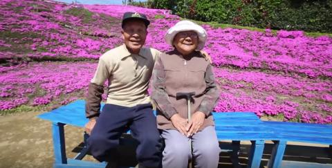 Hombre sembró miles de flores para que su esposa ciega las oliera