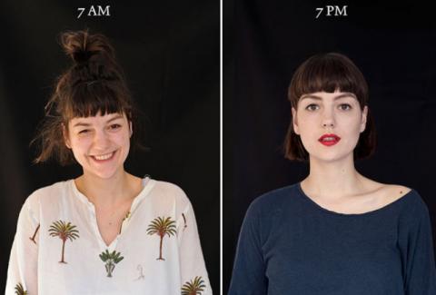 ¿Cómo luces a las 7am y a las 7pm? una fotógrafa lo documentó
