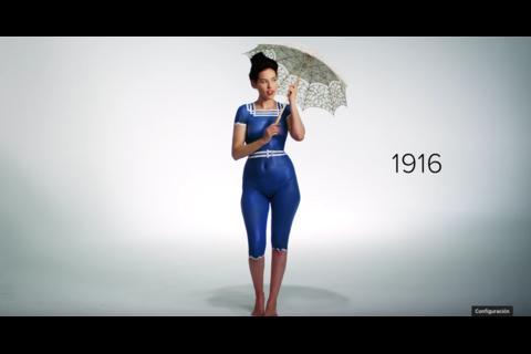 """El picante en """"body paint"""" de los 100 años del bikini"""