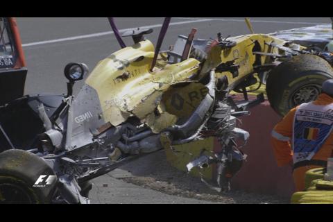 Terrible accidente durante el Gran Premio de Bélgica de la Fórmula 1