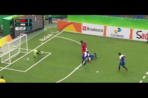 Espectacular golazo en fútbol para ciegos en Juegos Paralímpicos