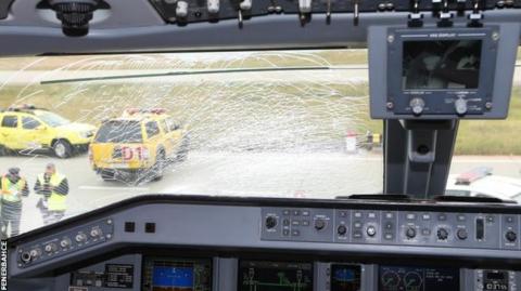 Aterrizaje de emergencia de un equipo turco por culpa de un pájaro