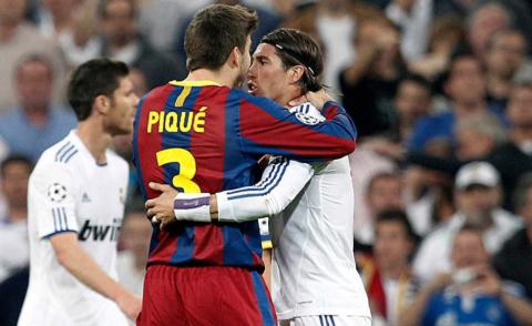 ¿Qué hizo Piqué cuando se encontró a Sergio Ramos después del clásico?