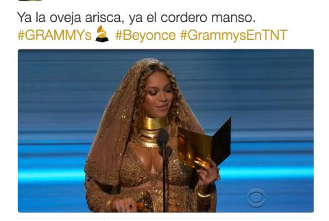 """Beyoncé hace su presentación y los """"memes"""" se llevan varios Grammy"""