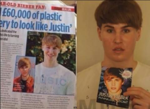 Fan paga 700 mil quetzales para parecerse a Justin Bieber