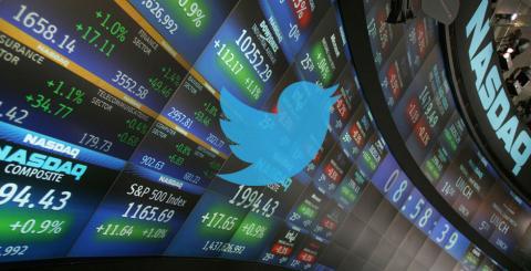 Vuela alto: Twitter alcanza los US$45.10 en la Bolsa