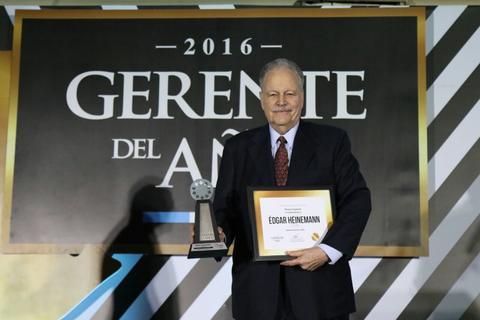 Edgar Heinemann gana el galardón Gerente del Año 2016