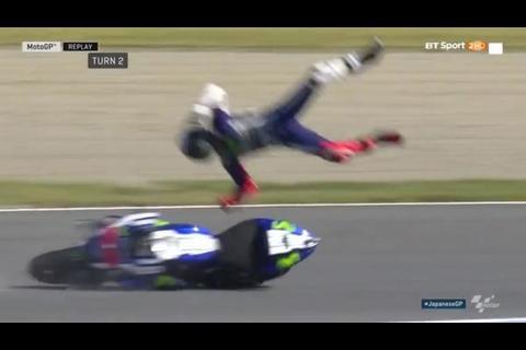 La escalofriante caída de Jorge Lorenzo en el circuito de Moto GP