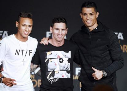 """Messi, Cristiano y Neymar, finalistas al premio """"The Best"""" de la FIFA"""