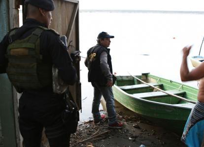 Así son los embarcadores allanados en Puerto Iztapa