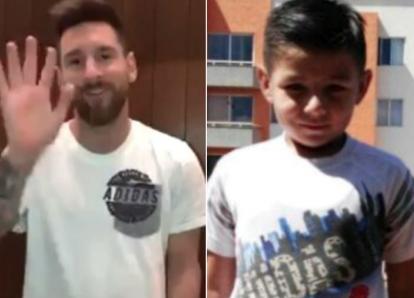 Messi alienta a niño que lucha por su vida tras el terremoto de México