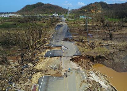 """Puerto Rico devastado tras el paso del huracán """"María"""""""