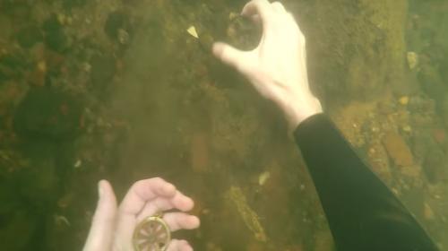 Buzo se lleva una increíble sorpresa en el fondo de un río