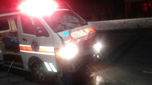 Bombero fue arrestado tras chocar contra motorista en Villa Nueva