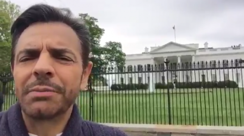 El duro mensaje contra Trump que Eugenio Derbez llevó a la Casa Blanca