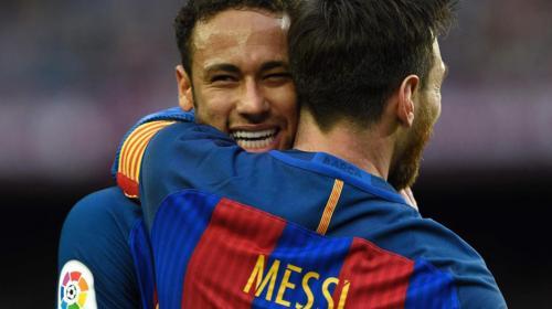 """Messi a Neymar: """"Fue un placer haber compartido con vos"""""""
