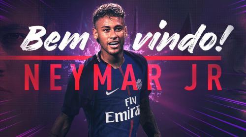 Así le da la bienvenida el PSG a Neymar Jr.