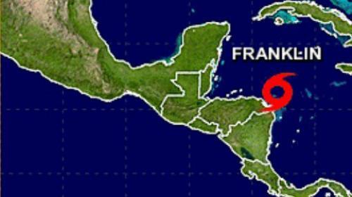 Se prevén lluvias para este lunes por la Tormenta Tropical Franklin