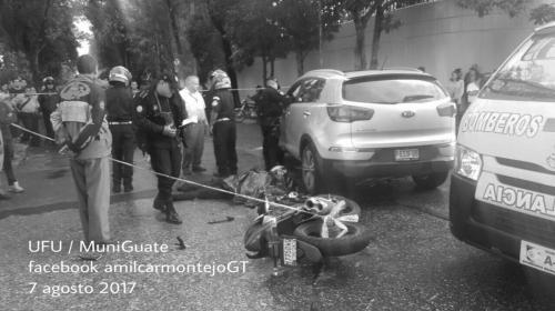 Motorista muere en accidente de tránsito en la zona 9
