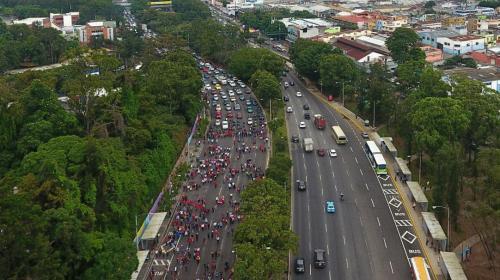 Video: así quedó el tráfico en la Roosevelt por la manifestación