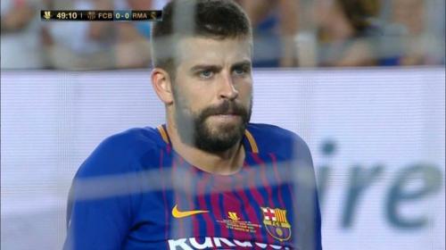 Real Madrid está venciendo al Barça con un autogol de Piqué