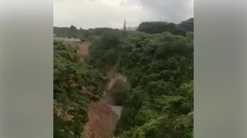 Video: alertan sobre supuesto agujero en Boca del Monte