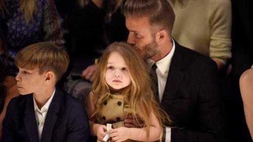Beckham muestra su lado paternal al construir un castillo para su hija