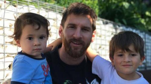 Así se divierten Leo Messi y sus hijos, Thiago y Mateo