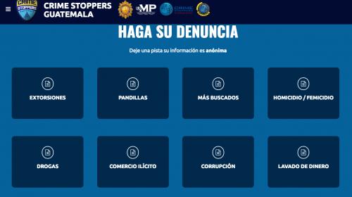 """Crime Stoppers"", la plataforma web de la PNC para realizar denuncias"