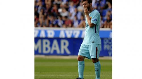 Messi falló un penal y el Barça no rompe el empate con el Alavés