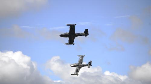 Así fue la exhibición de acrobacias aéreas en el aniversario de la FAG
