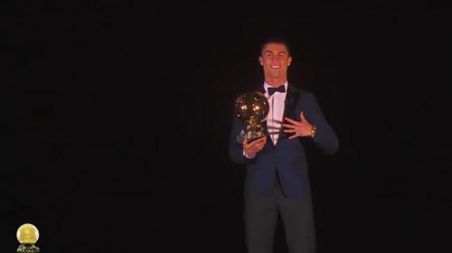 Así fue la espectacular entrega del Balón de Oro a Cristiano Ronaldo