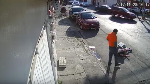 El impactante video del accidente de una joven enredada en unos cables