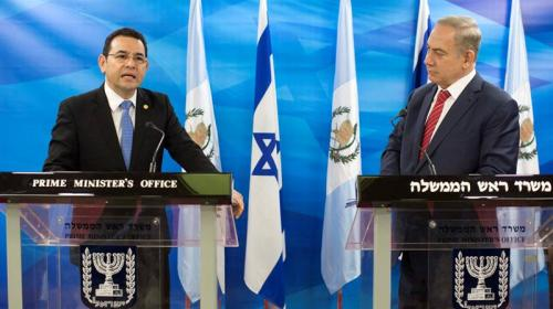 Diputados piden a Jimmy trasladar embajada de Guatemala a Jerusalén
