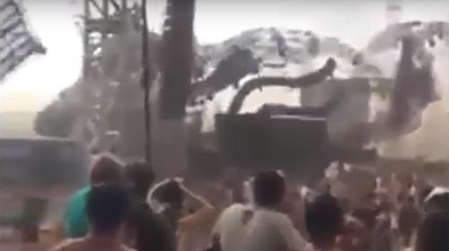 Video: viento derriba escenario y mata a DJ en un festival electrónico