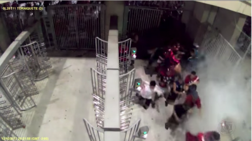 Así fue la invasión de aficionados de Flamengo al estadio Maracaná