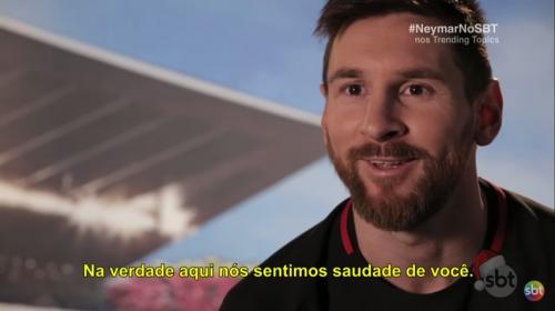 """Lionel Messi a Neymar: """"Te seguimos extrañando"""""""