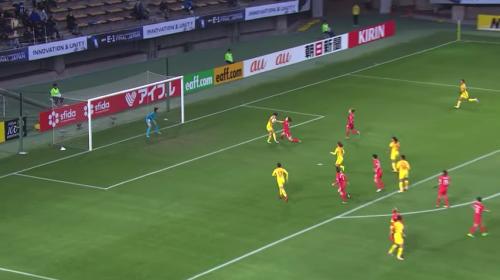 Jugadora china anota un espectacular golazo frente a Corea del Sur