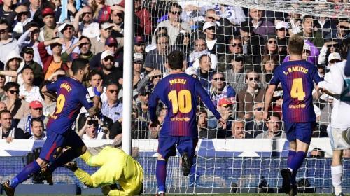 Así fue el gol de Luis Suárez, el primero del FC Barcelona