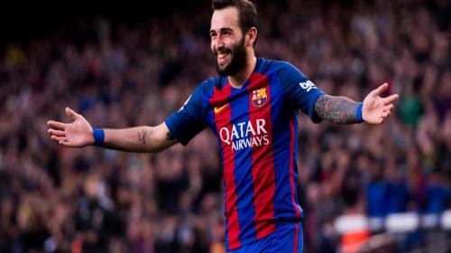 Aleix Vidal se burla de Cristiano Ronaldo en los vestidores del Barça