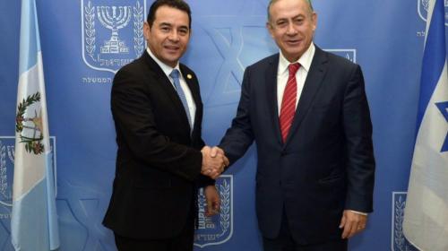 Jimmy anuncia que trasladará la embajada de Guatemala a Jerusalén