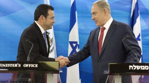 Israel saluda a Guatemala por reconocer Jerusalén como capital israelí