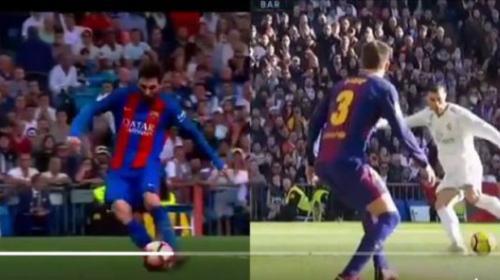 Video: la misma jugada de Messi y Cristiano con resultado distinto
