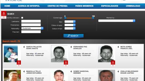 Eliminan alerta roja de Interpol de dos prófugos guatemaltecos