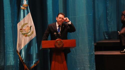 Las frases que dejó el discurso del presidente Jimmy Morales