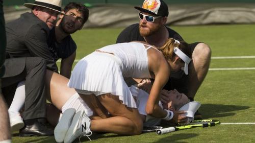 Escalofriante lesión de una tenista en Wimbledon