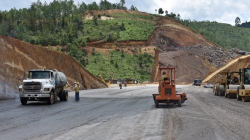 Así avanza la construcción de la carretera de peaje en Chimaltenango