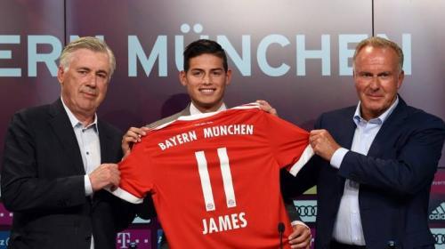 Así fue la presentación de James Rodríguez en el Bayern de Múnich
